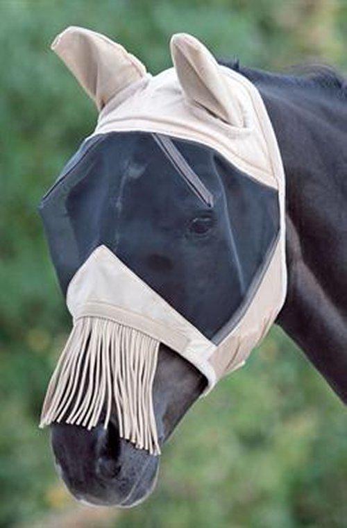 Fine Mesh Fly Mask With Nose Fringe Saddles And Style
